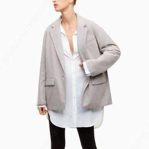 Aritzia Babaton Quilted Grey Demings Blazer